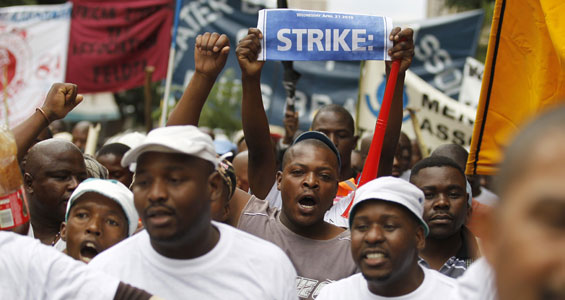 South Africa workers strike
