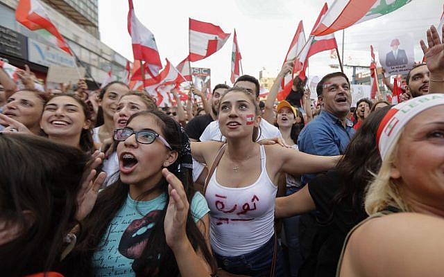 لبنان: عوامی بغاوت نے حکمرانوں کے در و دیوار ہلا دئیے!
