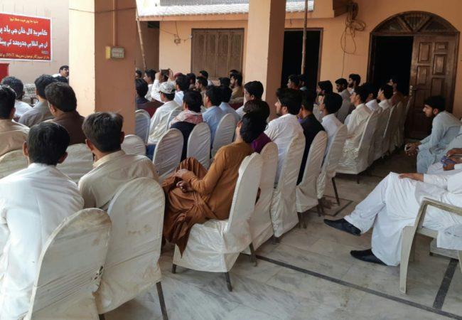 بی این ٹی برانچ بھان سیدآباد کی طرف سے کامریڈ لال خان کو خراج عقیدت