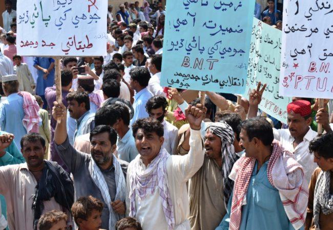 جوہی میں پانی کی شدید قلت کے خلاف احتجاجی مظاہرہ