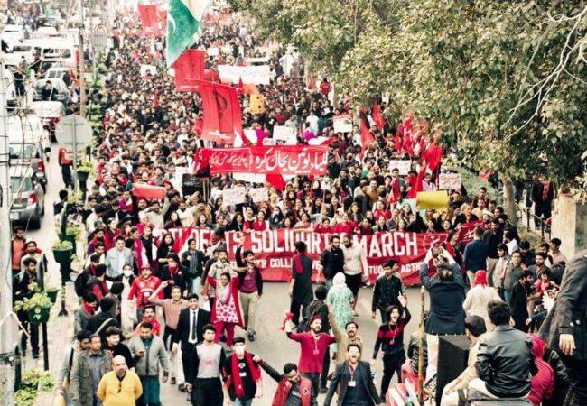 50سے زائد شہروں میں 'طلبہ یکجہتی مارچ'