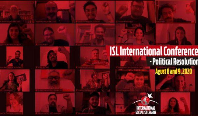 انٹرنیشنل سوشلسٹ لیگ کی بین الاقوامی کانفرنس کا مشترکہ اعلامیہ