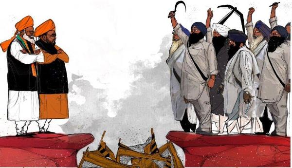 ہندوستان میں کسانوں کی تحریک' راج سنگھاسن ڈانواں ڈول