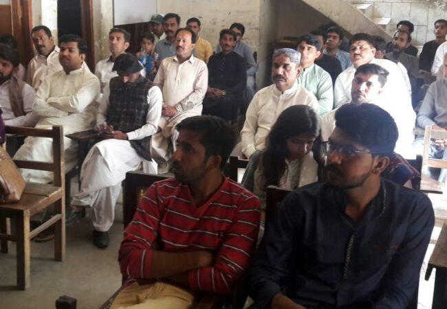 نوشہرہ فیروز میں لیکچر پروگرام کا انعقاد
