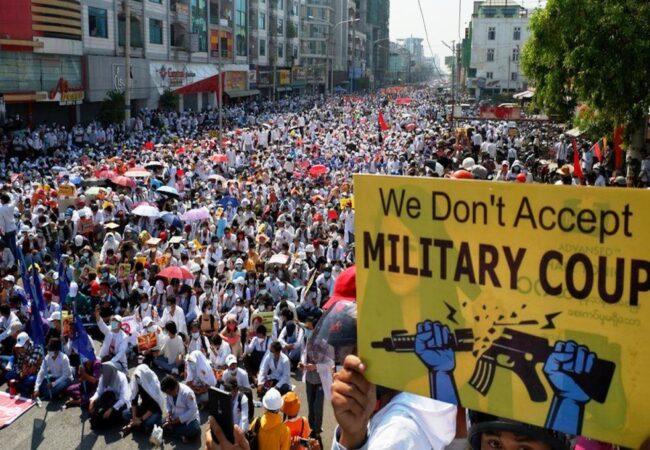 برما: فوجی آمریت کے خلاف تحریک جاری